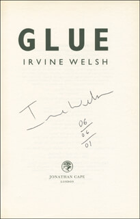 IRVINE WELSH - BOOK SIGNED 06/06/2001