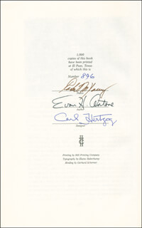 Autographs: EVAN HAYWOOD ANTONE - BOOK SIGNED CO-SIGNED BY: CARL HERTZOG, ROBERT M. YOUNG