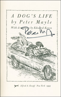 PETER MAYLE - BOOK SIGNED