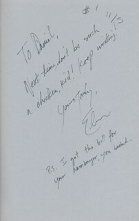 ELMORE J. LEONARD JR. - INSCRIBED BOOK SIGNED