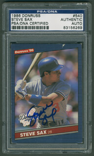 STEVE SAX - TRADING/SPORTS CARD SIGNED