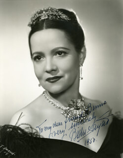 BIDU SAYAO - AUTOGRAPHED INSCRIBED PHOTOGRAPH 1950