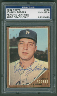 JOHNNY PODRES - TRADING/SPORTS CARD SIGNED