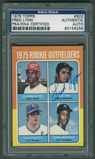 FRED LYNN - TRADING/SPORTS CARD SIGNED