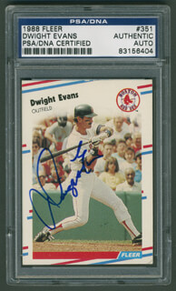 DWIGHT DEWEY EVANS - TRADING/SPORTS CARD SIGNED