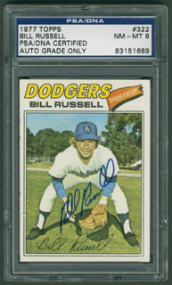 BILL RUSSELL - TRADING/SPORTS CARD SIGNED