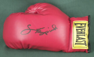 LEON SPINKS - BOXING GLOVE SIGNED
