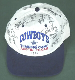 DALLAS COWBOYS - HAT SIGNED CO-SIGNED BY: LARRY ALLAN, BILL BATES, CLAY SHIVER, JASON SHELLEY, MIKE ULUFALE, ERIC BJORNSON