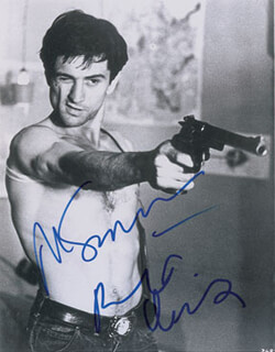 TAXI DRIVER MOVIE CAST - AUTOGRAPHED SIGNED PHOTOGRAPH CO-SIGNED BY: MARTIN SCORSESE, ROBERT DENIRO