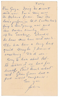 JOHN STEINBECK - AUTOGRAPH LETTER SIGNED 12/03/1960