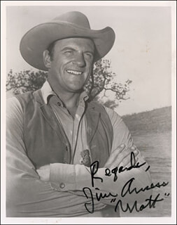 JAMES ARNESS - AUTOGRAPHED SIGNED PHOTOGRAPH