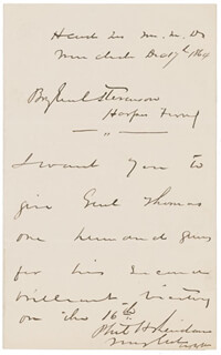 GENERAL PHILIP H. SHERIDAN - AUTOGRAPH LETTER SIGNED 12/17/1864