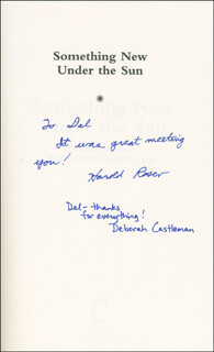 HAROLD ROSEN - INSCRIBED BOOK SIGNED CO-SIGNED BY: DEBORAH CASTLEMAN