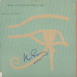 ALAN PARSONS - RECORD ALBUM COVER SIGNED 2009