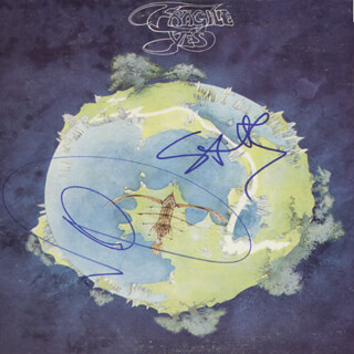 YES - RECORD ALBUM COVER SIGNED CO-SIGNED BY: YES (JON ANDERSON), YES (STEVE HOWE)