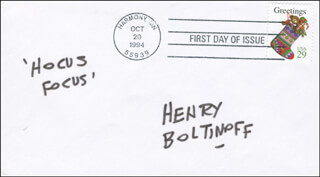 HENRY BOLTINOFF - AUTOGRAPH SENTIMENT SIGNED