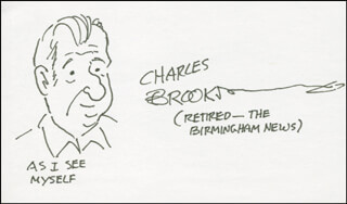 CHARLES BROOKS - SELF-CARICATURE SIGNED