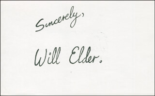 WILL ELDER - AUTOGRAPH SENTIMENT SIGNED