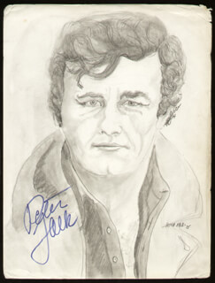 PETER FALK - ORIGINAL ART SIGNED