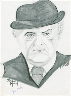 ZERO MOSTEL - ORIGINAL ART SIGNED