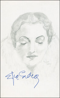 SYLVIA SIDNEY - ORIGINAL ART SIGNED 1976 CO-SIGNED BY: PB SOCCI
