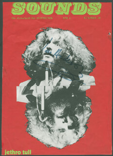 JETHRO TULL (IAN ANDERSON) - MAGAZINE COVER SIGNED