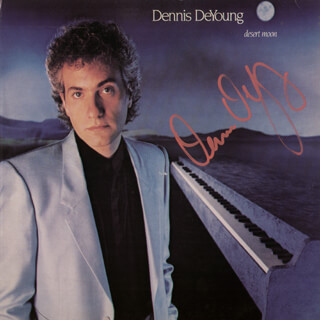 DENNIS DEYOUNG - RECORD ALBUM COVER SIGNED