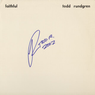 TODD RUNDGREN - RECORD ALBUM COVER SIGNED 2002