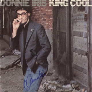 DONNIE IRIS - RECORD ALBUM COVER SIGNED