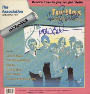 THE TURTLES - RECORD ALBUM COVER SIGNED 2003 CO-SIGNED BY: TURTLES, THE (MARK VOLMAN), THE TURTLES (HOWARD KAYLAN)