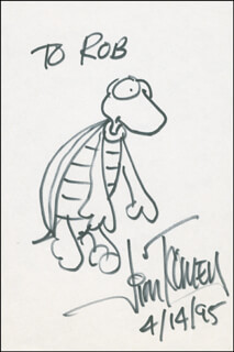 JIM TOOMEY - INSCRIBED ORIGINAL ART SIGNED 04/14/1995