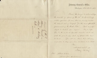 HENRY STANBERY - AUTOGRAPH LETTER SIGNED 03/22/1867