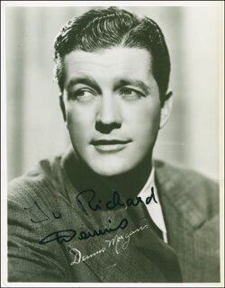 DENNIS MORGAN - AUTOGRAPHED INSCRIBED PHOTOGRAPH
