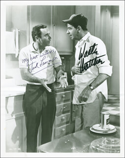 ODD COUPLE MOVIE CAST - AUTOGRAPHED SIGNED PHOTOGRAPH CO-SIGNED BY: JACK LEMMON, WALTER MATTHAU