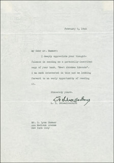 Autographs: LEWIS B. SCHWELLENBACH - TYPED LETTER SIGNED 02/06/1946