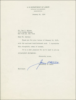 JAMES P. MITCHELL - TYPED LETTER SIGNED 01/20/1954