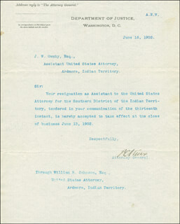 Autographs: PHILANDER C. KNOX - TYPED LETTER SIGNED 07/16/1902