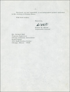 WINTON M. BLOUNT - TYPED LETTER SIGNED 02/17/1969