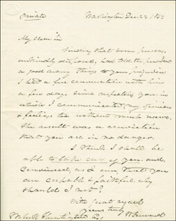 Autographs: WALTER FORWARD - AUTOGRAPH LETTER SIGNED 12/22/1842