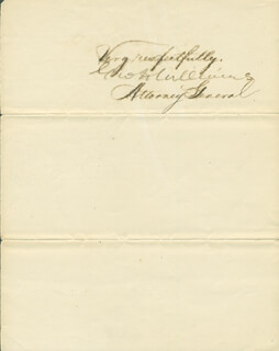 Autographs: GEORGE H. WILLIAMS - MANUSCRIPT DOCUMENT SIGNED 11/15/1872
