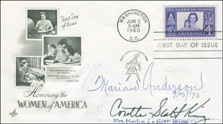 CORETTA SCOTT KING - FIRST DAY COVER SIGNED CO-SIGNED BY: MARIAN ANDERSON