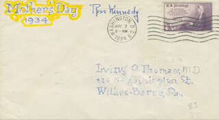 ROSE F. KENNEDY - ENVELOPE SIGNED