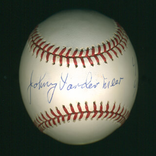 JOHNNY DOUBLE NO-HIT VANDER MEER - AUTOGRAPHED SIGNED BASEBALL