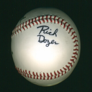 Autographs: RICH DOZER - BASEBALL SIGNED
