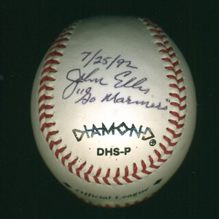 Autographs: JOHN ELLIS - BASEBALL SIGNED 07/25/1992