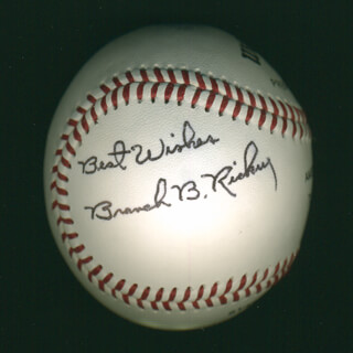 BRANCH B. RICKEY - AUTOGRAPHED SIGNED BASEBALL