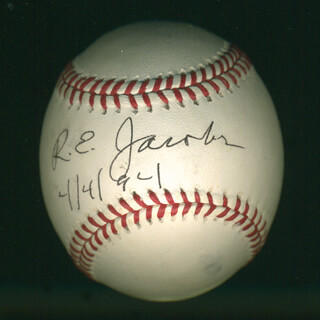 Autographs: RICHARD E. JACOBS - BASEBALL SIGNED 04/04/1994