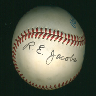 Autographs: RICHARD E. JACOBS - BASEBALL SIGNED