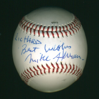 Autographs: MIKE HERMAN - INSCRIBED BASEBALL SIGNED