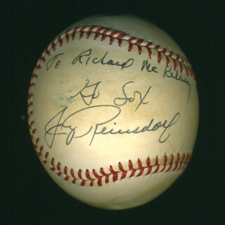 Autographs: JERRY REINSDORF - INSCRIBED BASEBALL SIGNED